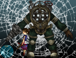 Don't mess with Big Daddy ..::Bioshock::.. by xxAlyMetalGirlxx
