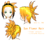 MMD- Sun Flower Hair- DL by MMDFakewings18
