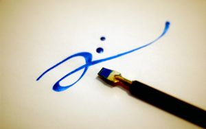 Blue Ink by beccapark