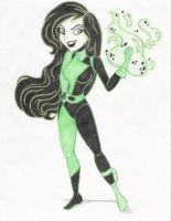 A Very Evil Shego: colored by Dark-Singer