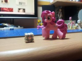 Miniature Companion Cube by CJEgglishaw