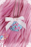 Ice Cream Bow Necklace by CandyStripedCafe