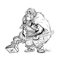 Dwarf Barbarian by Skyserpent