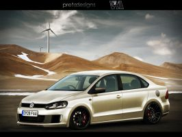VW Polo Saloon by blackboxdesign