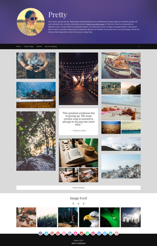 Pretty - Personal / Gallery Tumblr Theme by NicotineLL
