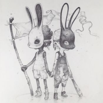 Vonn Sketch - Battered Bunnies by Tvonn9