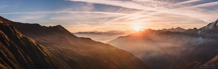 Daybreak over the mountains by LinsenSchuss