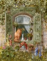 Cat's window by ArtGalla