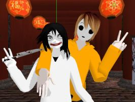 :gift: MMD Jeff and Masky by DimensionStar