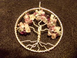 Fluorite Tree of Life - Silver Wire by ItsAWrap