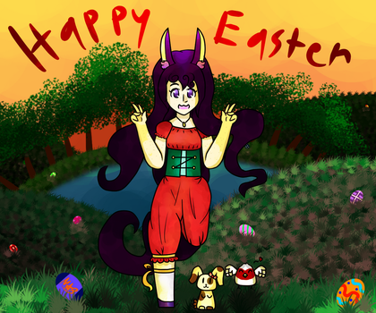 Happy Easter Day! (Has Speedpaint!) by TheDrawingMorgs