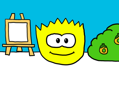 ANIMATION Artist the Yellow Puffle by ingot-honey
