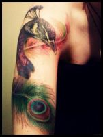 peacock tattoo 2 by fieldeee