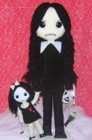 Wednesday Addams with dolly by Zosomoto