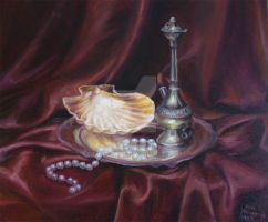 Still Life with Pearls by lidia-art