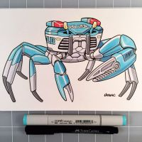March of Robots Day 31: Police Crab by D-MAC