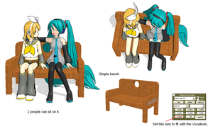 MMD project p2 Bench by brsa