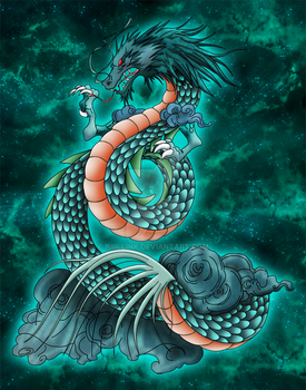 Tatouage Dragon Shiryu by Niiii-Link