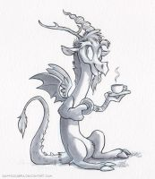 Sketch - Discord's Tea by sophiecabra