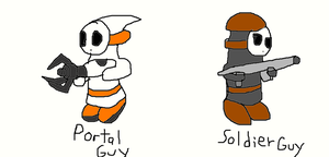 Potal Guy and Soldier Guy by SurgeCraft