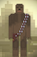 8bit Chewbacca by DavidtheDestroyer