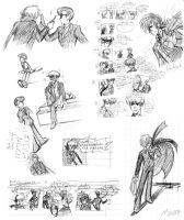 Black Jack and Makube sketches by maiyeng