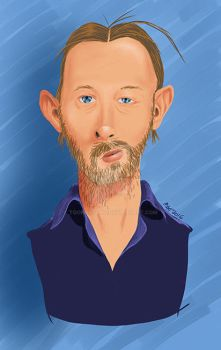 Thom Yorke - color by toongsteno