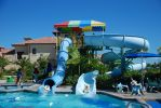 Piplup and Oshawott on water slides! by ryanthescooterguy