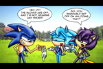 Sonic's Strip Tease by SaturnGrl