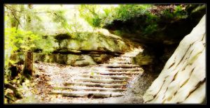 Stone Staircase by black-heroin