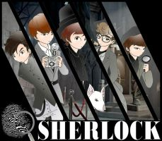 SHINee SHERLOCK by Pulimcartoon