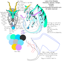 Lady of the Pleiades Ref Sheet by Scarlet-Fumes