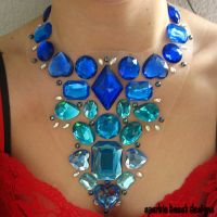 Variegating Blue Statement by Natalie526