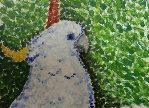 Pointillism Cockatoo by SockeyeSalmon