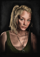 Emily Kinney as Beth from The Walking Dead TV show by shezzor