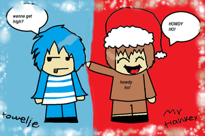 mr hankey and towelie human by SamBlackSide