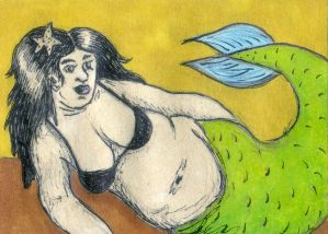 Another Chubby Mermaid ATC
