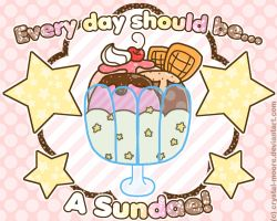 Free Wallpaper: Everyday should be a Sundae! by Crystal-Moore
