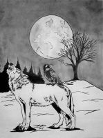Raven And The Wolf by AudioHomicide