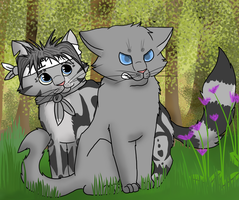 Point Commission: Jayclaw and Jayfeather by Animalible