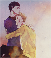 Kirk and spock signature by Kirsty17