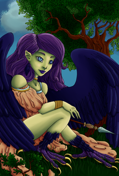 Harpy Colored by Rainydaysmiles
