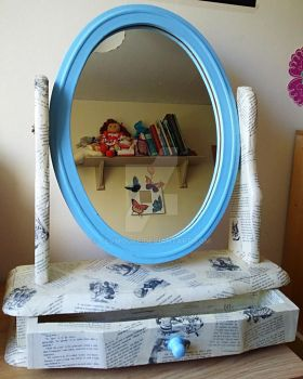 'Alice Through the Looking Glass' Mirror by clvmoore