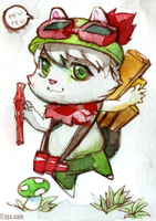 Teemo mini painting. by queenvera