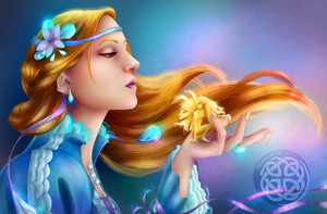 Peafowl princess and the gold fae by Morrigan-LE