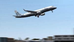Flybe departure from Southampton by Boeing787