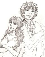 Sixth Doctor and Donna by infiniteviking