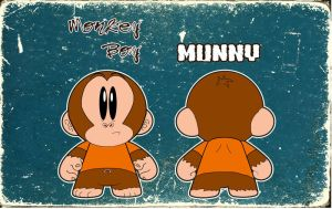 Monkey boy Munny by Makinita