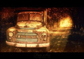 Old Dodge in forest by fsert