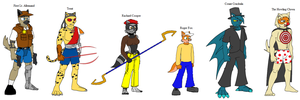 Sly Cooper TSB - Characters by Emikodo